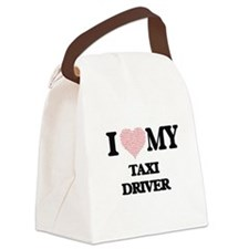 I love my Taxi Driver (Heart Made Canvas Lunch Bag