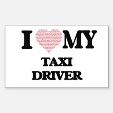 I love my Taxi Driver (Heart Made from Wor Decal