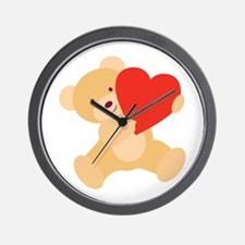 Valentine Teddy Wall Clock