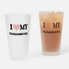 I love my Telemarketer (Heart Made Drinking Glass