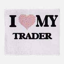 I love my Trader (Heart Made from Wo Throw Blanket