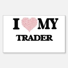 I love my Trader (Heart Made from Words) Decal
