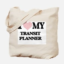 I love my Transit Planner (Heart Made fro Tote Bag