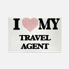 I love my Travel Agent (Heart Made from Wo Magnets