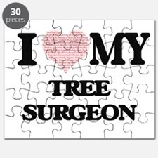 I love my Tree Surgeon (Heart Made from Wor Puzzle