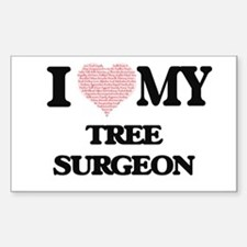 I love my Tree Surgeon (Heart Made from Wo Decal