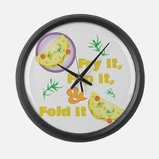 Fold It Omelet Large Wall Clock