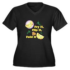 Fold It Omelet Plus Size T-Shirt