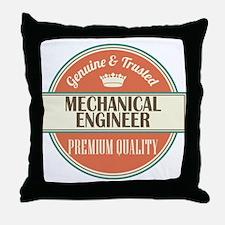 mechanical engineer vintage logo Throw Pillow
