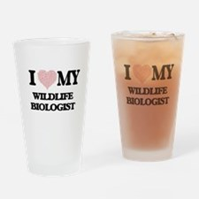 I love my Wildlife Biologist (Heart Drinking Glass