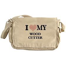 I love my Wood Cutter (Heart Made fr Messenger Bag