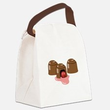 Chocolate Covered Cherries Canvas Lunch Bag
