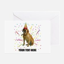 Custom Yellow Lab Greeting Card