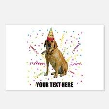 Custom Yellow Lab Postcards (Package of 8)