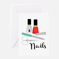 Manicure Nails Greeting Cards