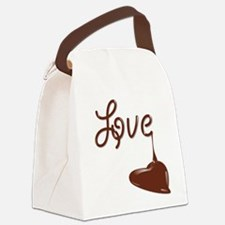 Love chocolate Canvas Lunch Bag