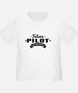 Future Pilot Like My Daddy T-Shirt