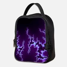 Dark Purple Fractal Neoprene Lunch Bag