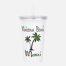 Makena Beach Maui Acrylic Double-wall Tumbler