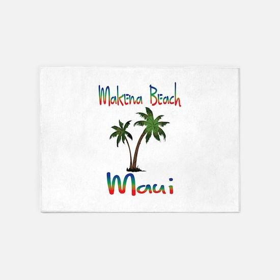 Makena Beach Maui 5'x7'Area Rug