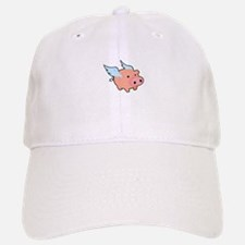 Pigs fly Baseball Baseball Cap