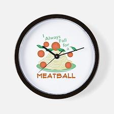 Fall For A Meatball Wall Clock