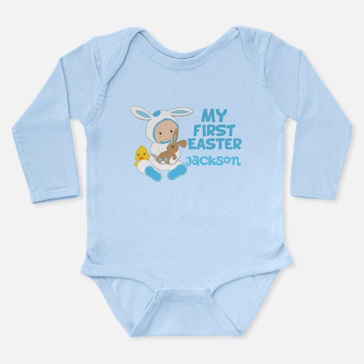 Baby Boy Easter Long Sleeve Infant Bodysuit