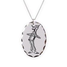 The Wizard of Oz Tin Man Necklace Oval Charm