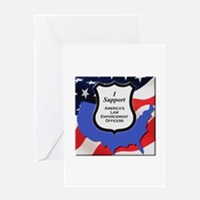 Law Enforcement Support Greeting Cards