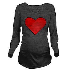 Heart Long Sleeve Maternity T-Shirt