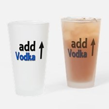 Add Vodka Drinking Glass