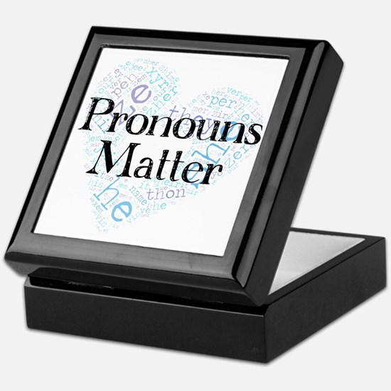 Pronouns Matter Keepsake Box