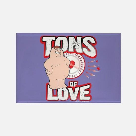 Family Guy Tons of Love Rectangle Magnet