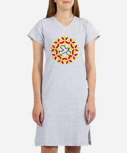 Funny Peace dove Women's Nightshirt