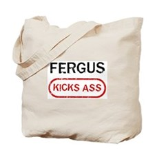 FERGUS kicks ass Tote Bag