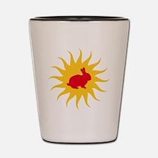 Red dwarf Shot Glass