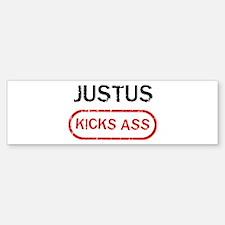 JUSTUS kicks ass Bumper Bumper Bumper Sticker