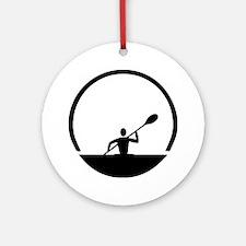Cute Canoe Round Ornament
