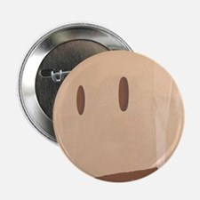 "Paper Bag Mask Brown bag 2.25"" Button (10 pack)"