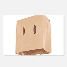 Paper Bag Mask Brown bag Postcards (Package of 8)
