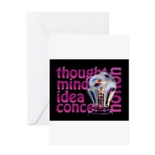 Words of the Mind Greeting Cards