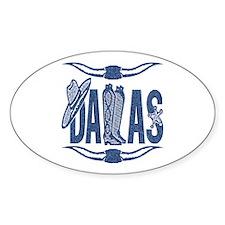 Dallas - Oval Decal