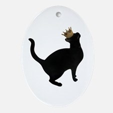 Cat Crown Oval Ornament