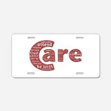 Words of Care Aluminum License Plate