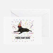 Custom Chocolate Lab Greeting Card