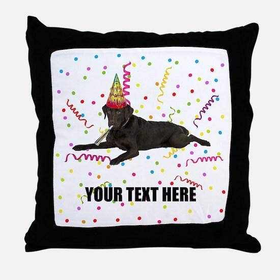 Custom Chocolate Lab Throw Pillow