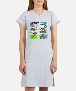 Unique Ground hog Women's Nightshirt