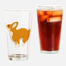 Cartoon Corgi Drinking Glass
