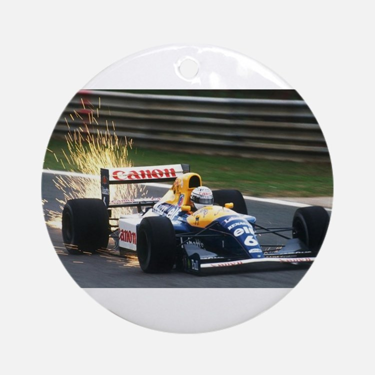 F1 Sparks Round Ornament