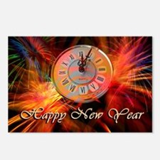 Happy New Year Clock Postcards (Package of 8)